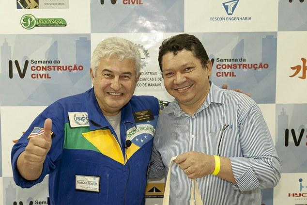 Astronauta Brasileiro e futuro Ministro de Ciência e Tecnologia Marcos Pontes da palestra no IFAM