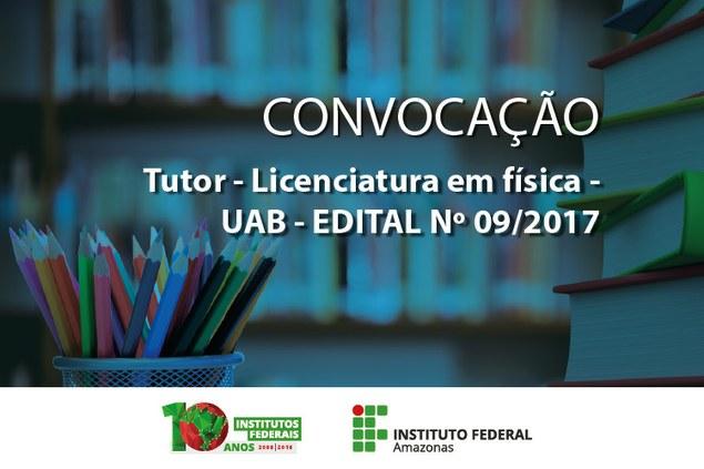 Convocação de Tutor Licenciatura em Física - Boa Vista/RR