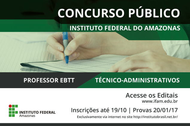 Data da prova do concurso público é alterada para 2017