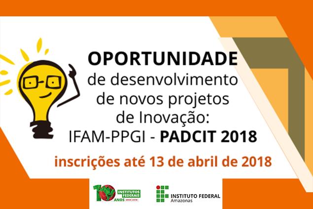 Inscrições abertas para Edital do PADCIT