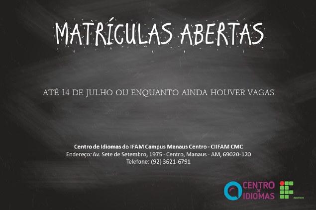 Matrículas abertas para Centro de Idiomas do IFAM/CMC