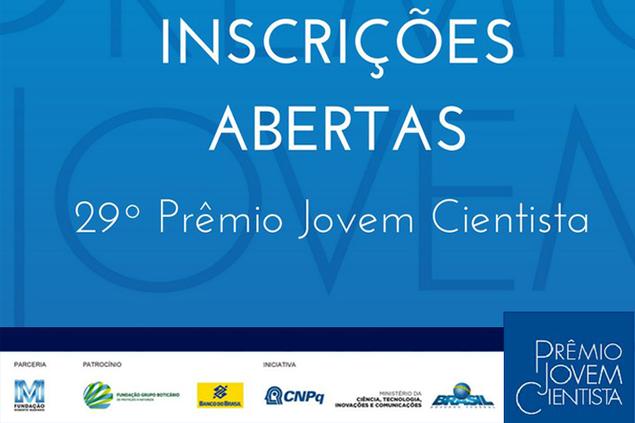 Participe da 29ª edição do Prêmio Jovem Cientista