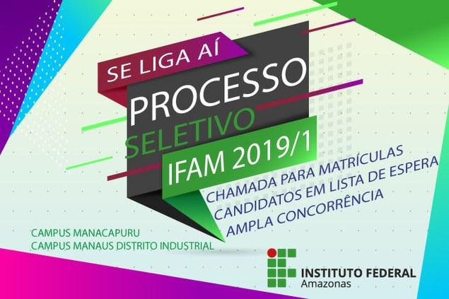 Nova Chamada de candidatos em LISTA DE ESPERA da Ampla Concorrência e Reservas para matrículas.