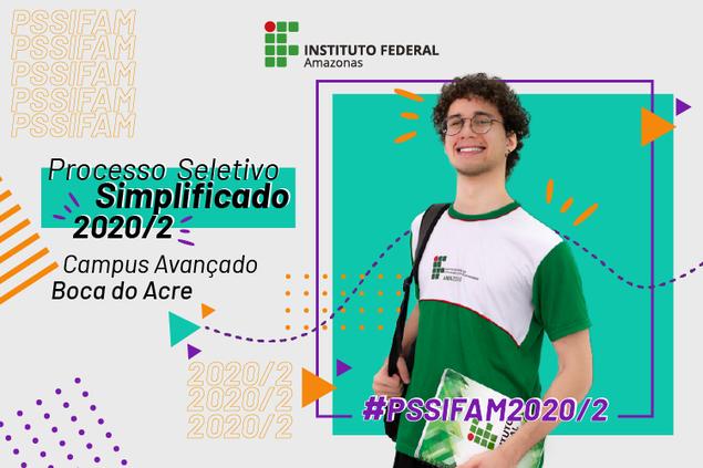 Processo Seletivo 2020/2 Campus Avançado de Boca do Acre