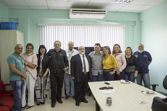 Reitor e Gestores do IFAM reúnem-se com o presidente do INMETRO para tratar de melhorias e parcerias.
