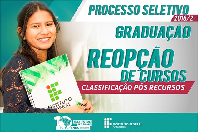 RESULTADO FINAL - Edital N° 49 - REOPÇÃO DE CURSO