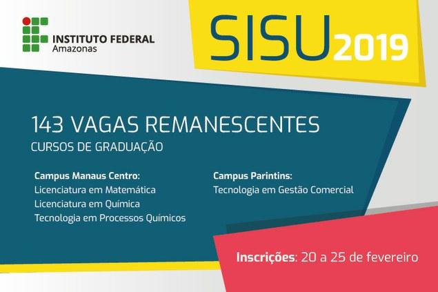 SISU - VAGAS REMANESCENTES