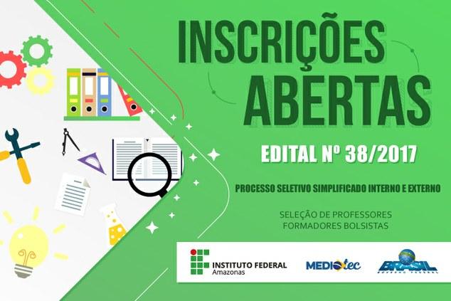 RESULTADO PRELIMINAR DAS INSCRIÇÕES EDITAL Nº 38/2017