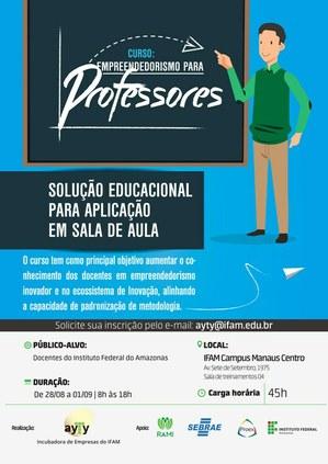 Ayty oferta curso de empreendedorismo para professores do IFAM